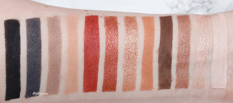 Milani Bold Obsessions Eyeshadow Palette Swatches on Pale Skin