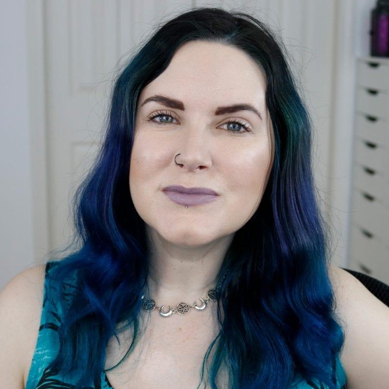 Nyx Pin-Up Pout Lipstick in Smoke Me on Pale Skin
