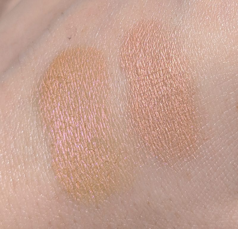 Tarte Bikini vs Urban Decay Blaze swatch