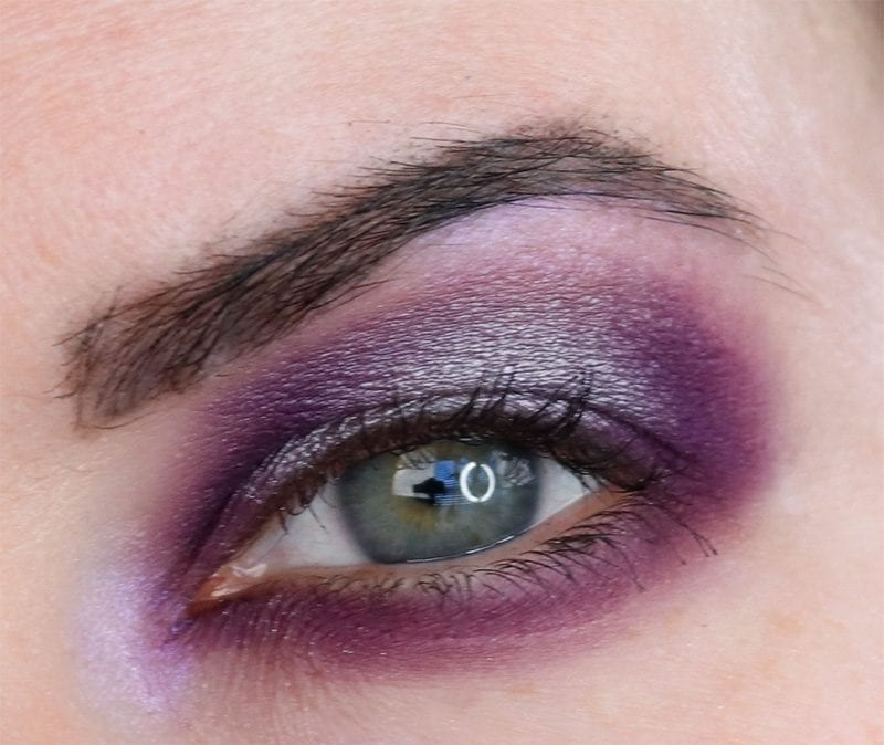 Purple and Silver Halo Eye with Makeup Geek Tin Man and Invincible