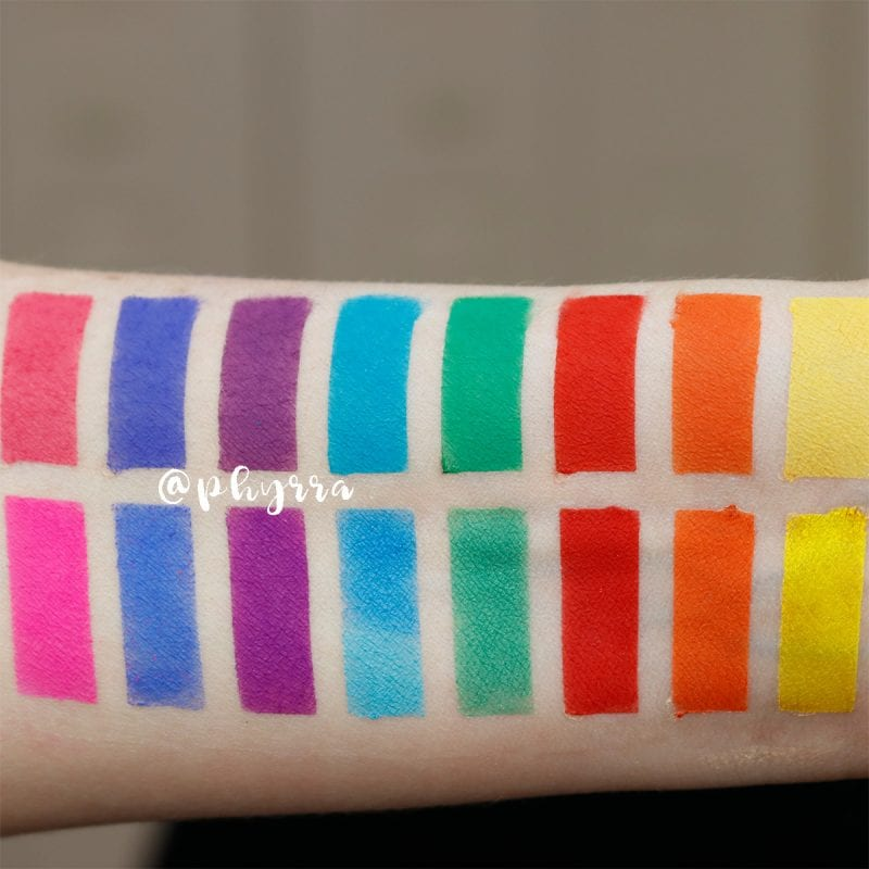 Makeup Geek Power Pigments Compared to Sugarpill