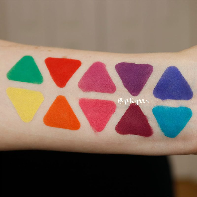 Makeup Geek Power Pigments - Swatches, Comparison, Demo