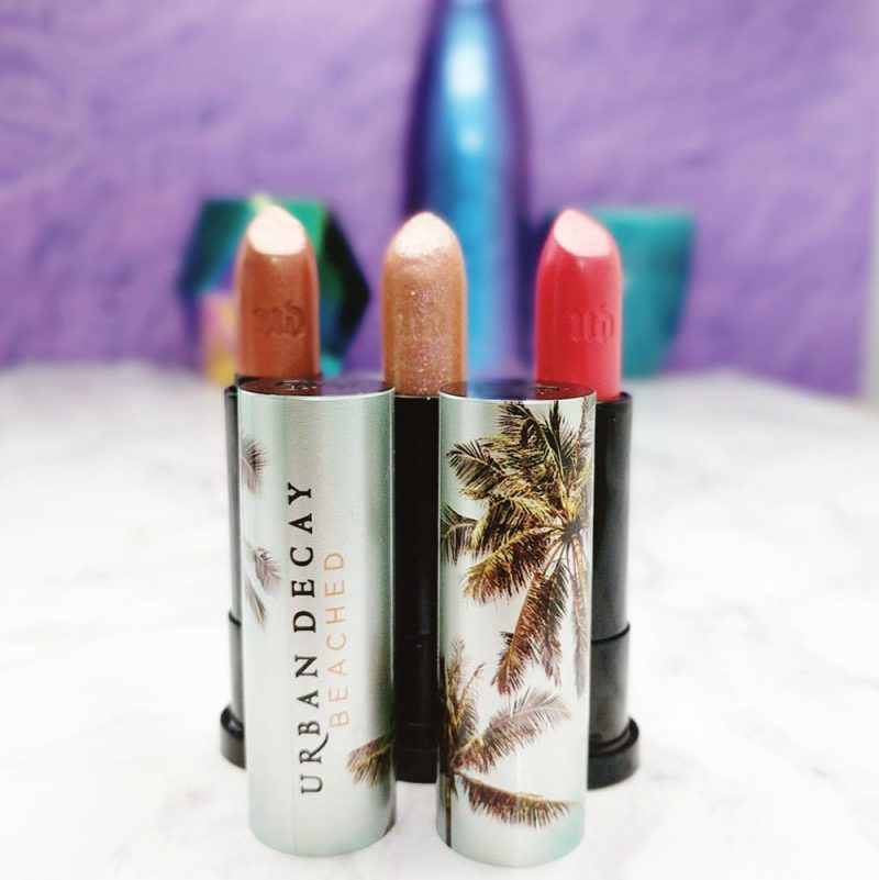 Urban Decay Beached Vice Lipsticks Review, Swatches