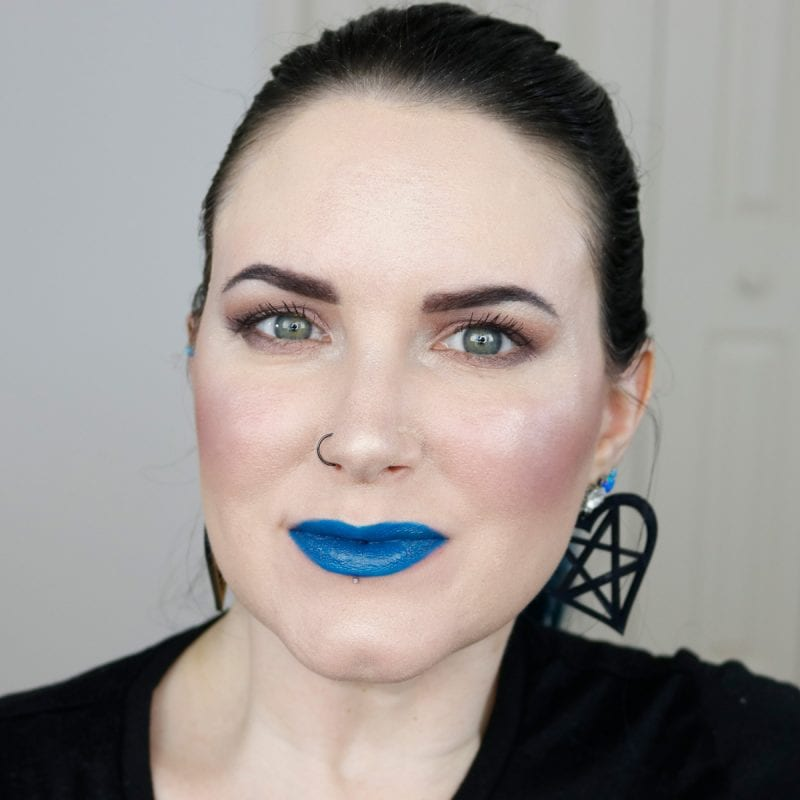 Urban Decay Vice Lipstick in Control swatched on fair skin