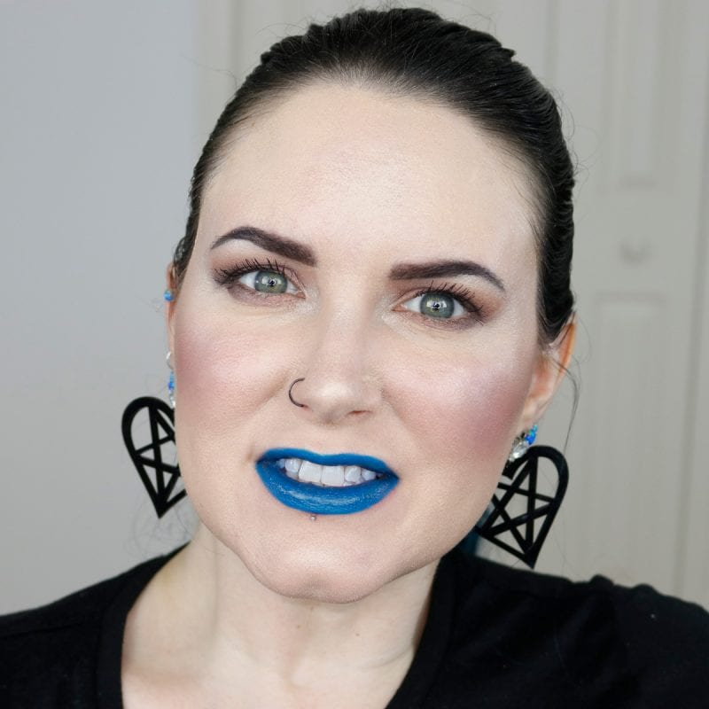 Urban Decay Vice Lipstick in Control swatched on pale skin