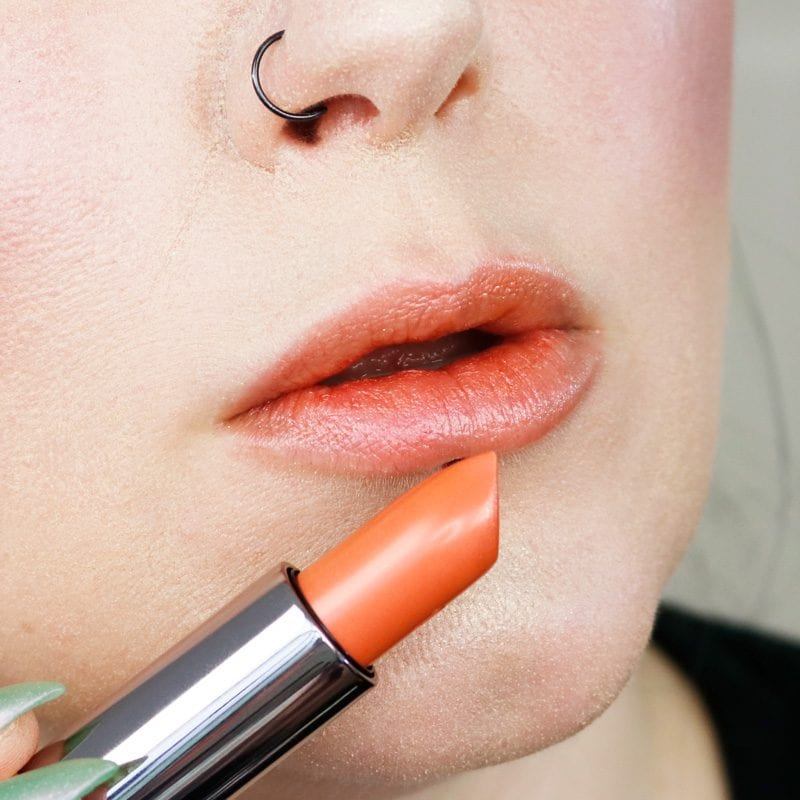 Urban Decay Naked Heat Vice Lipstick in First Sin lip swatch