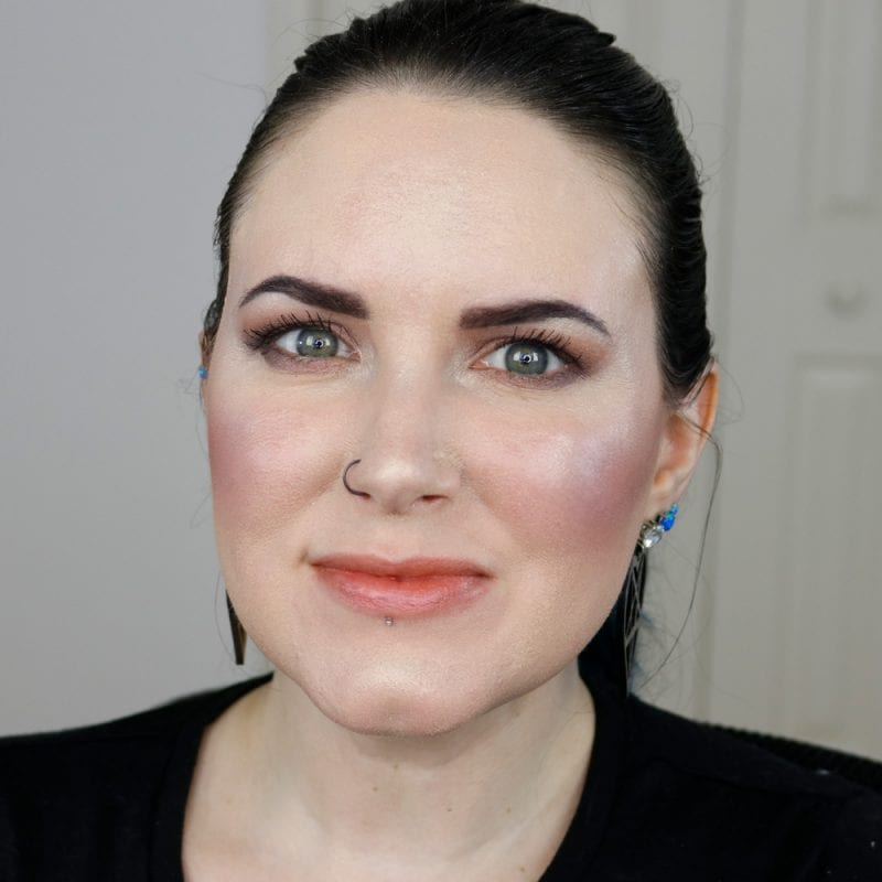 Urban Decay Naked Heat Vice Lipstick in First Sin swatched on pale skin