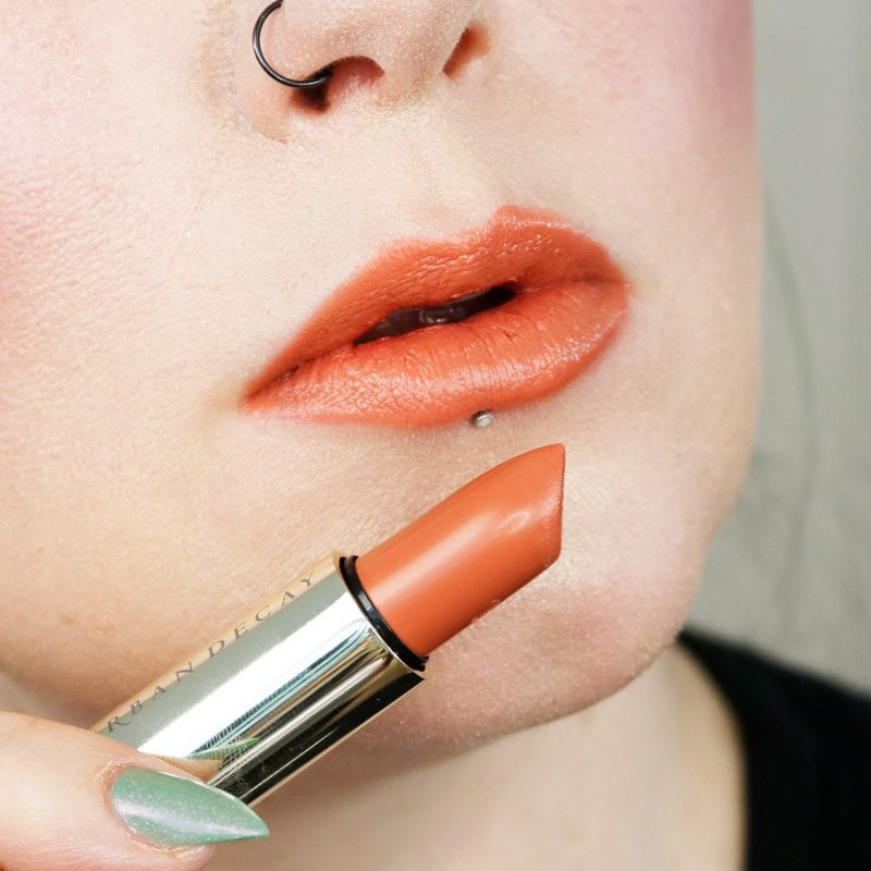 Urban Decay Naked Heat Vice Lipstick in Fuel lip swatch