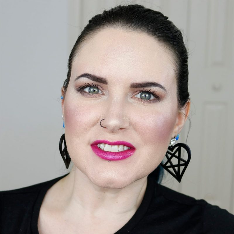 Urban Decay Vice Lipstick in Heartache swatched on pale skin