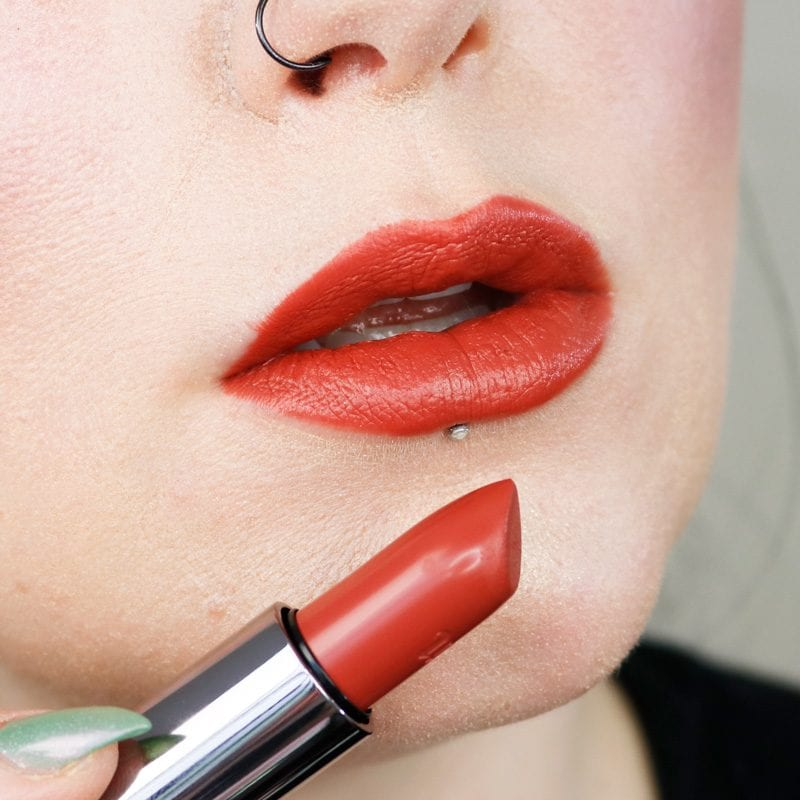 Urban Decay Naked Heat Vice Lipstick in Trip lip swatch
