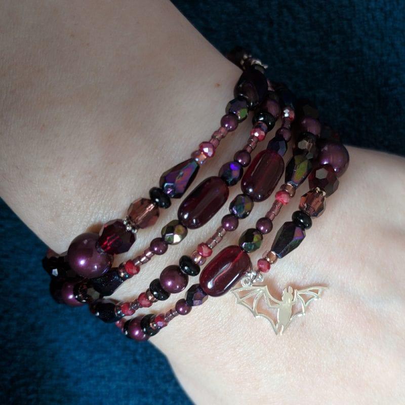 Burgundy Wrap Bracelet
