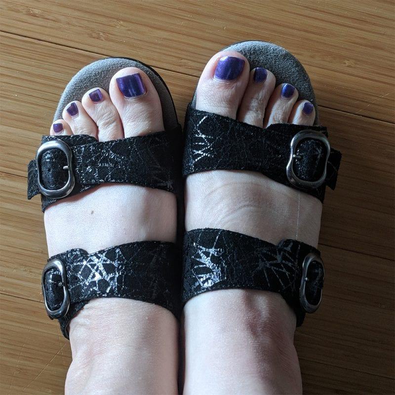 Dansko Sophie Slides in Black Drizzle Size 39