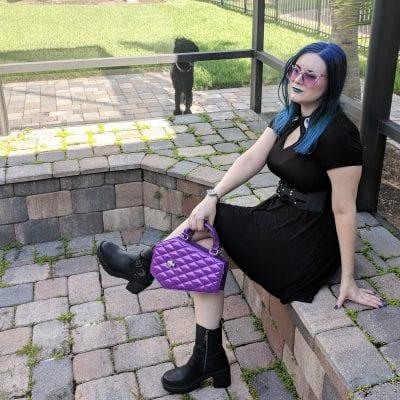 Lux De Ville Elvira Coffin Mini Tote in Electric Purple