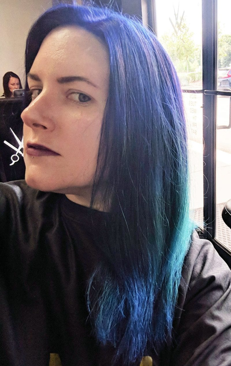 Pulp Riot Neon Electric Nirvana Hair before being styled