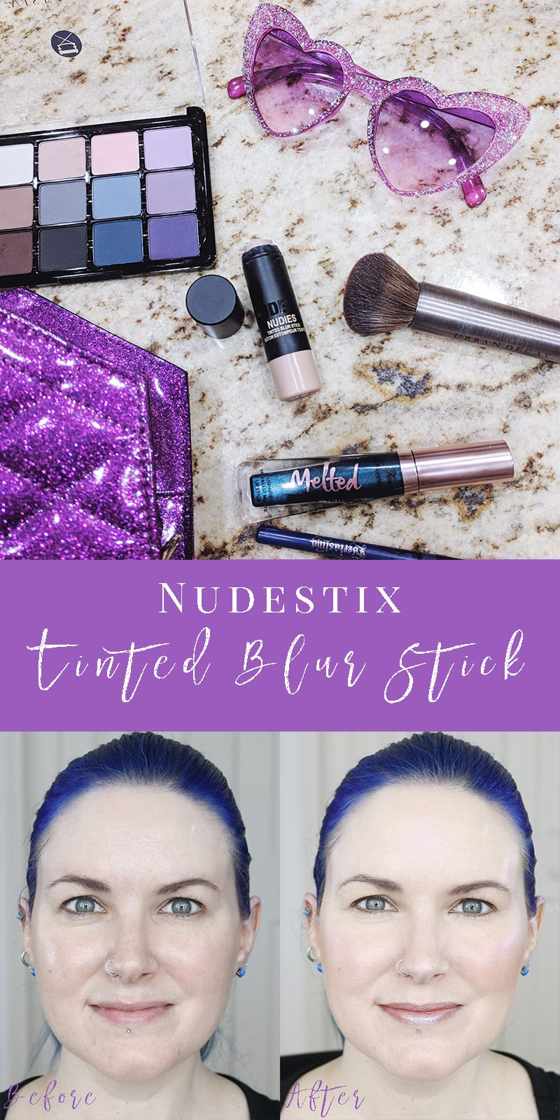Nudestix Nudies Tinted Blur Stick Review - Find out why this is my favorite foundation! #GoNudeButBetter #Vegan #crueltyfree #beauty #makeup #review