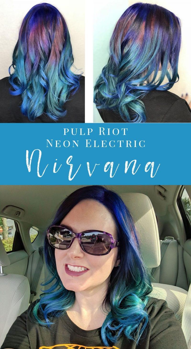 Pulp Riot Neon Electric Nirvana Hair #pulpriot #nirvana #rainbowhair