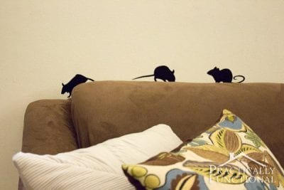 Quick DIY Vinyl Mice Silhouettes by Practically Functional