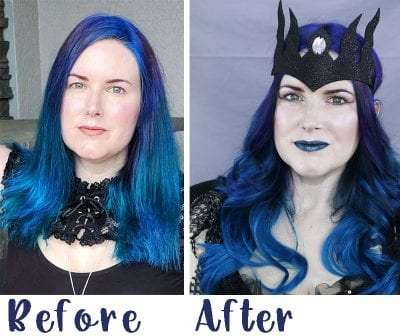 Before and After Tape in Hair Extensions