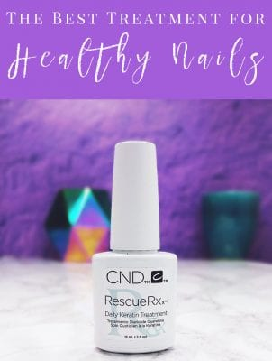 Everybody wants to know how to stop nails from peeling and have strong, healthy nails. Today I'm sharing my secret: the best nail treatment for healthy nails!CND RescueRXX is my secret weapon!