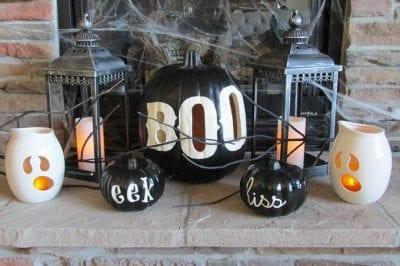 Boo Halloween Pumpkin Luminary by Bren Did