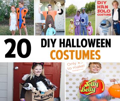 20 DIY Halloween Costume Ideas Round-Up