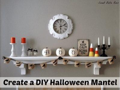 DIY Halloween Mantle