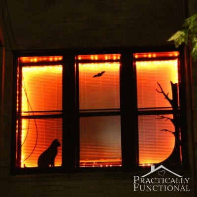 DIY Halloween Window Vinyls by Practically Functional