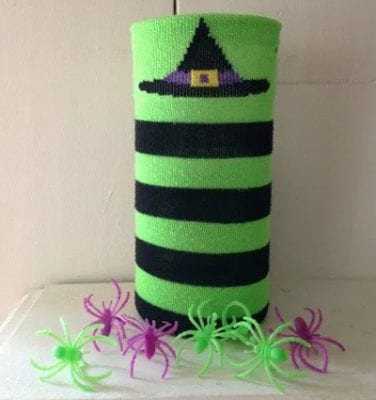 DIY Witch Sock Vase by This Worthey Life