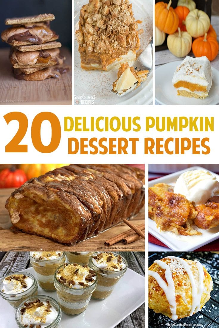 20 Delicious Pumpkin Dessert Recipes