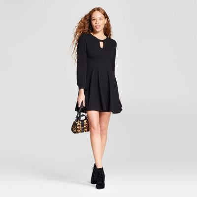 Eclair Keyhole Fit and Flare Dress