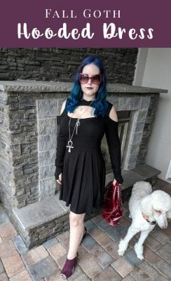 Fall Goth Hooded Dress - an absolutely stunning, sexy dress by Killstar, the Spirit Walker dress. #gothicfashion #streetgoth #moderngoth #witch