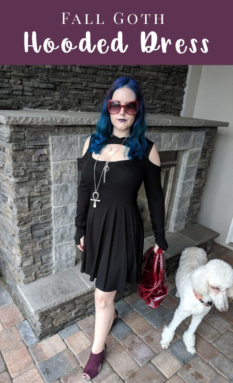 Fall Goth Hooded Dress - an absolutely stunning, sexy dress by Killstar, the Spirit Walker dress. #gothicfashion #streetgoth #moderngoth #witch