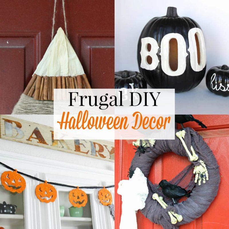 25 Frugal DIY Halloween Decor Ideas