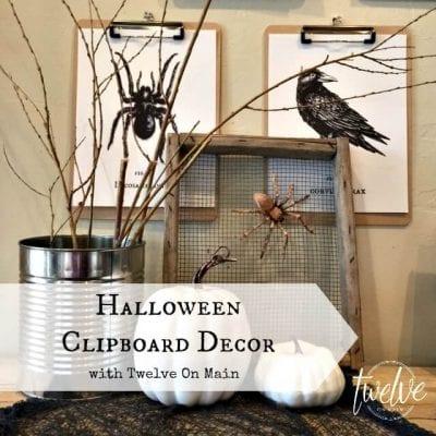 Halloween Clipboard Decor by Twelve On Main