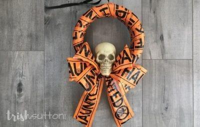 Haunted Halloween Wreath for under $5 by Trish Sutton