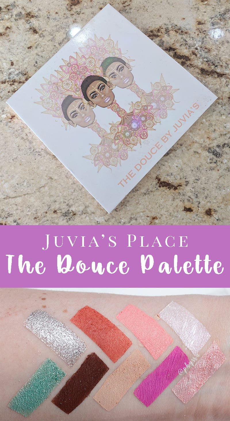 Juvia's Place the Douce Palette Review & Swatches on pale skin