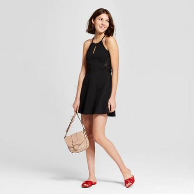 Black Keyhole Dress