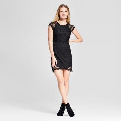 K by Kersh Lace Cap Sleeve Dress