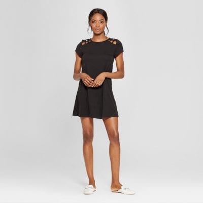 Lattice Shoulder Dress