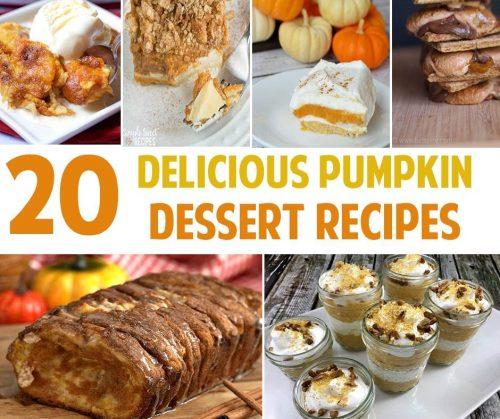 20 Delicious Pumpkin Dessert Recipes
