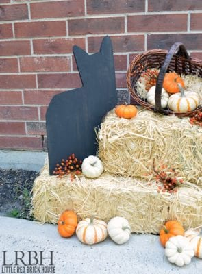 Wooden Black Cat Silhouette Decor by Little Red Brick House