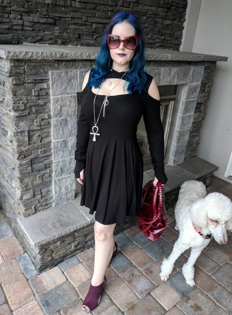 Fall Goth Hooded Dress