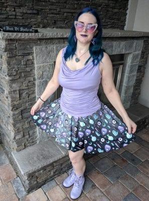 Summer Pastel Goth Witch Skirt