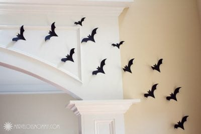 EASY DIY Halloween Wall of Bats by Marvelous Mommy