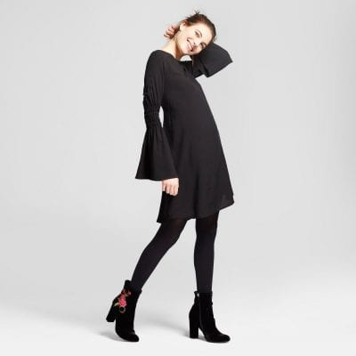 Grayson Threads Black Bell Sleeve Witch Dress