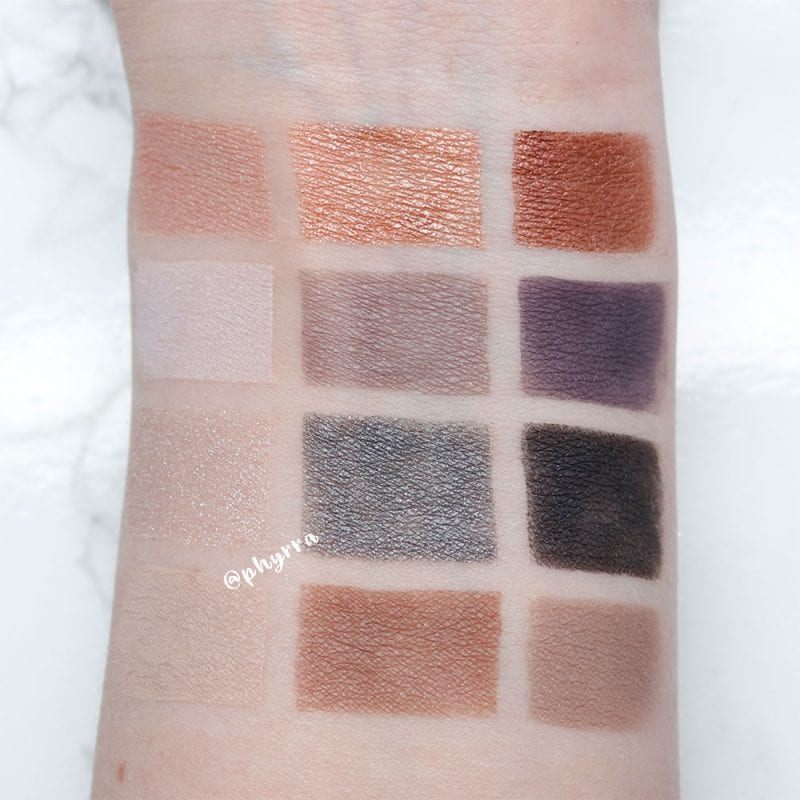 Cargo HD Gradient Palette Swatches on Pale Skin