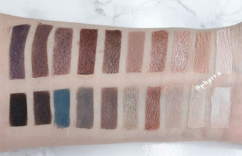 Nyx Gloomy Days vs. Flower Beauty Cool Natural swatches
