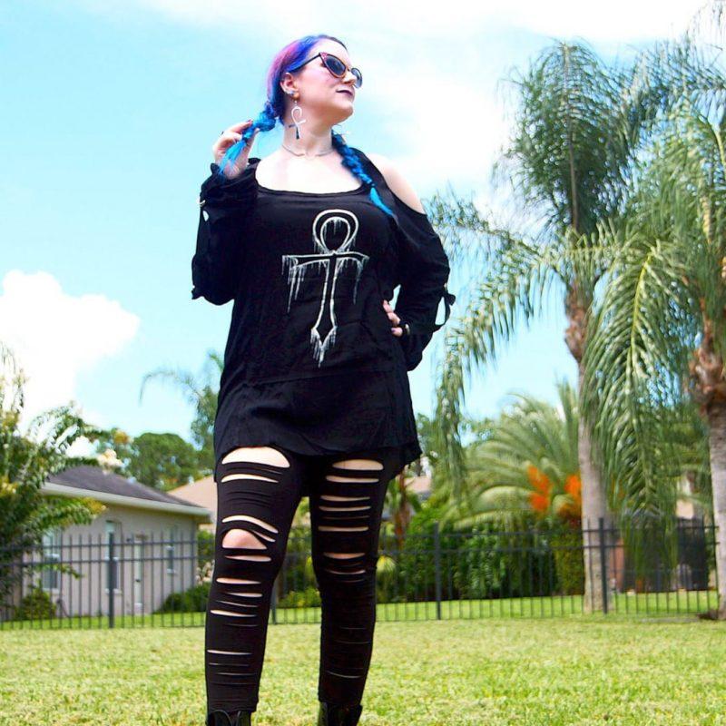 Gothic Clothing Inspiration - Ankh Tunic & Ripped Leggings