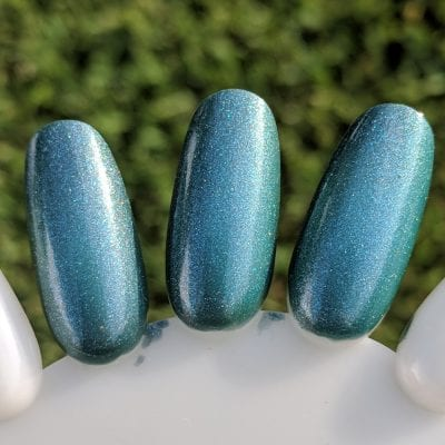 September Polish Pickup nail polish, KBShimmer The One Soul, swatched in direct sun