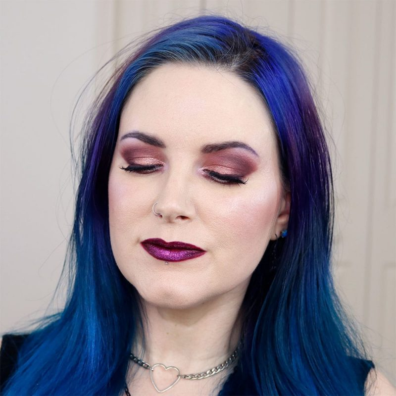 Wearing Cool Toned Eyeshadow with a rose gold lid